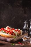 Homemade hot dogs Royalty Free Stock Images