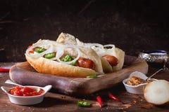 Homemade hot dogs Royalty Free Stock Photos