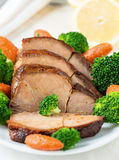 Homemade hot pork with vegetables Stock Photography
