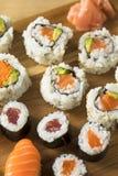Homemade Huge Sushi Platter stock images