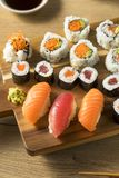 Homemade Huge Sushi Platter royalty free stock image