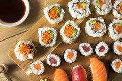Homemade Huge Sushi Platter stock photo