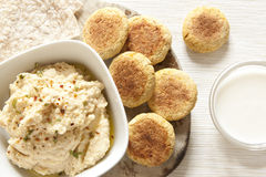 Homemade Hummus and Falafel Stock Photography