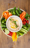 Homemade hummus Royalty Free Stock Photos