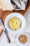 Homemade hummus Stock Photo