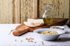 Homemade hummus Stock Photography