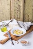 Homemade hummus Stock Images