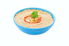Homemade hummus on white background Stock Photography