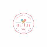 Homemade Ice Cream Logo Template, Vector Design Royalty Free Stock Photo