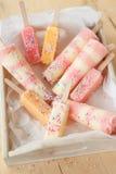Homemade ice cream popsicles Stock Photography