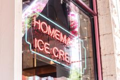 Homemade Ice Cream Sign royalty free stock images