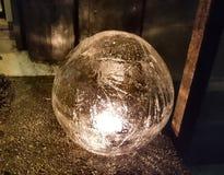 Ice light. Homemade ice light Royalty Free Stock Photography