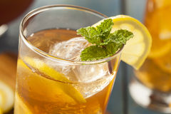 Homemade Iced Tea with Lemons. And Mint stock photo