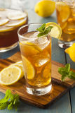 Homemade Iced Tea with Lemons Stock Photography