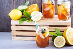 Homemade iced tea Royalty Free Stock Images