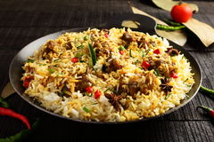 Homemade Indian  mutton dum biriyani Royalty Free Stock Images