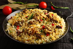 Homemade Indian  mutton dum biriyani Royalty Free Stock Photography