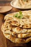 Homemade Indian Naan Flatbread Royalty Free Stock Images