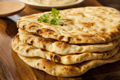 Homemade Indian Naan Flatbread Stock Photography