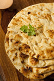 Homemade Indian Naan Flatbread Stock Photo