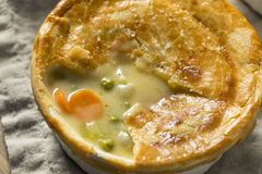 Homemade Individual Chicken Pots Pies. Ready to Eat stock image