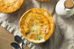 Homemade Individual Chicken Pots Pies. Ready to Eat royalty free stock images