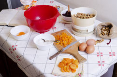 Homemade. Ingredients for homemade cake, old style Royalty Free Stock Photography