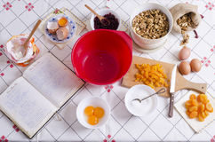 Homemade. Ingredients for homemade cake, old style Royalty Free Stock Image