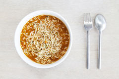 Homemade Instant noodles Royalty Free Stock Photo