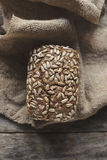 Homemade integral bread with seeds Stock Image