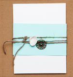 Homemade invitation Stock Photo