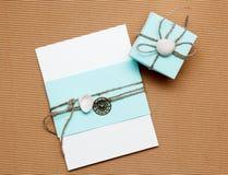 Homemade invitation Royalty Free Stock Photography