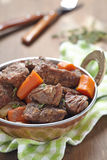 Homemade Irish Beef Stew with Carrots Royalty Free Stock Photos