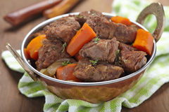Homemade Irish Beef Stew with Carrots Royalty Free Stock Photo