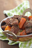Homemade Irish Beef Stew with Carrots Stock Photos