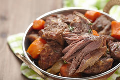 Homemade Irish Beef Stew with Carrots Stock Images
