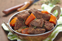 Homemade Irish Beef Stew with Carrots Royalty Free Stock Images