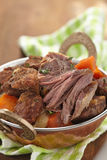Homemade Irish Beef Stew with Carrots Royalty Free Stock Photography