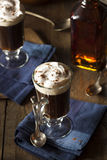 Homemade Irish Coffee with Whiskey Stock Photography