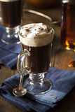 Homemade Irish Coffee with Whiskey Royalty Free Stock Image
