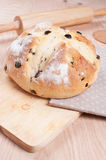 Homemade soda bread on wooden board Stock Photo