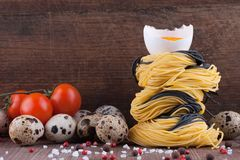 Homemade Italian angel hair noodles Stock Image