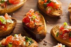 Homemade Italian Bruschetta Appetizer Stock Images