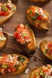 Homemade Italian Bruschetta Appetizer Stock Photos