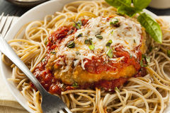 Homemade Italian Chicken Parmesan. With Cheese and Sauce Stock Image