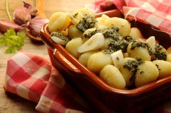 Homemade Italian Gnocchi from boiled potatoes Royalty Free Stock Photo