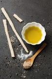 Homemade italian grissini with salt Royalty Free Stock Image