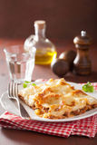 Homemade italian lasagna on plate Stock Photos