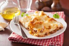 Homemade italian lasagna on plate Stock Image