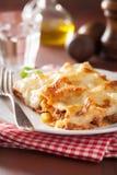 Homemade italian lasagna on plate Royalty Free Stock Photos